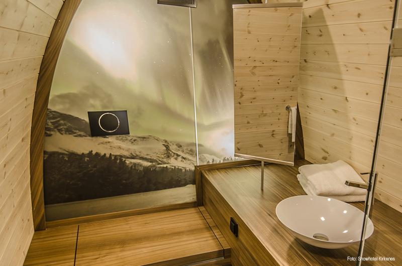 Schneezimmer und gamme cabins im snowhotel kirkenes for Kirkenes snow hotel gamme cabins