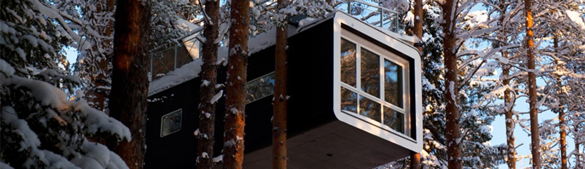 baumhaushotel eishotel bernachtungen in schweden. Black Bedroom Furniture Sets. Home Design Ideas