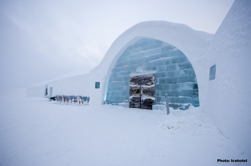 Eishotel Jukkasjärvi mit Lapplandhotel über Silvester