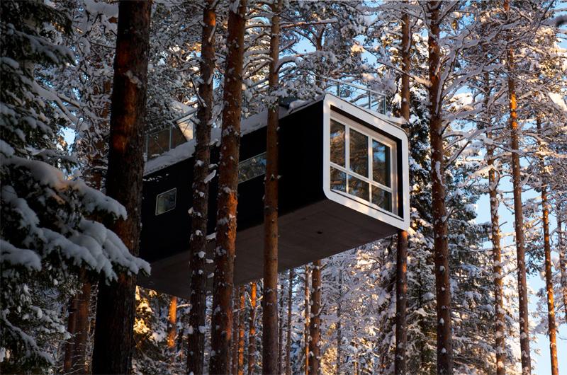 treehotel schweden lappland winterurlaub im baumhaus. Black Bedroom Furniture Sets. Home Design Ideas